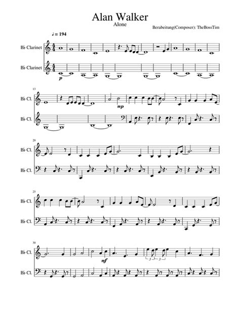 Moods For Solo B Flat Clarinet  music sheet