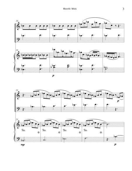 Moonlit Mists For Marimba Piano  music sheet