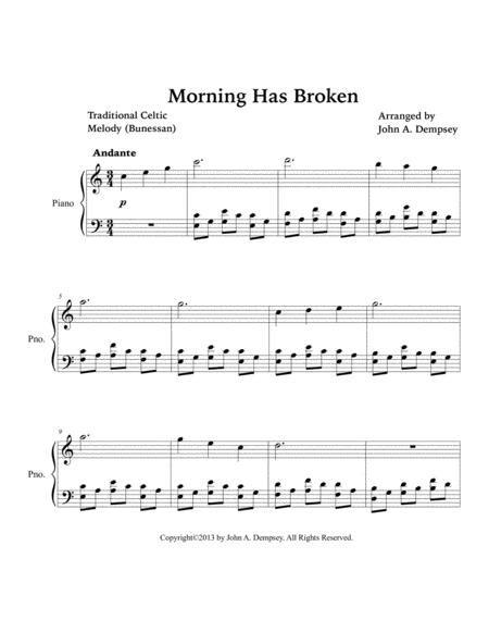 Morning Has Broken Celtic Piano  music sheet