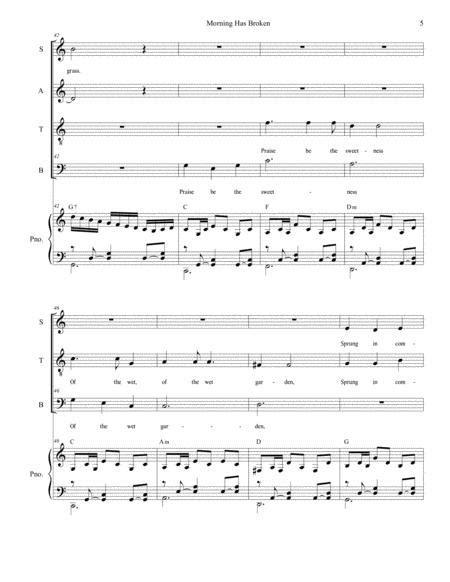 Morning Has Broken For Vocal Trio Sab  music sheet
