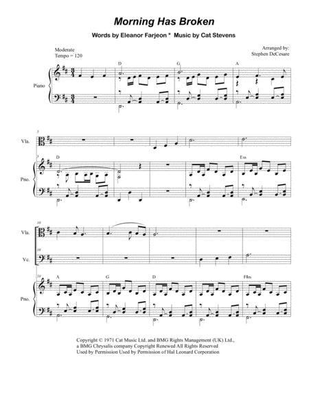 Morning Has Broken String Quartet  music sheet