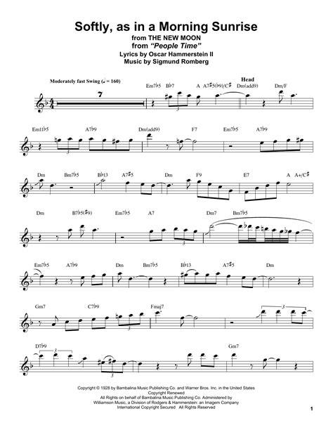 Morning Sunrise Score And Parts music sheet