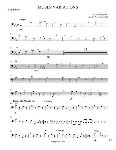 Moses Variations music sheet