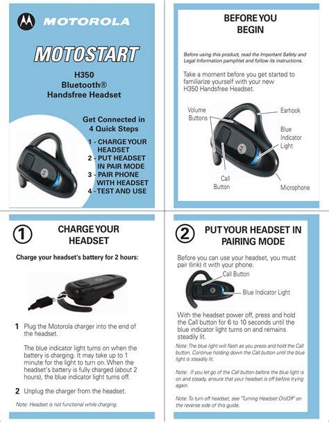 free download ebooks Motorola Bluetooth Headset H350 User Guide.pdf