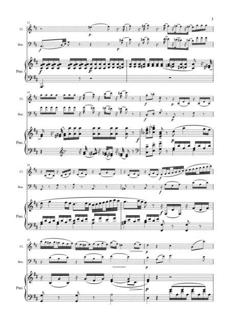 Mozart Adagio In B Minor K 540 Clarinet Cello Piano  music sheet
