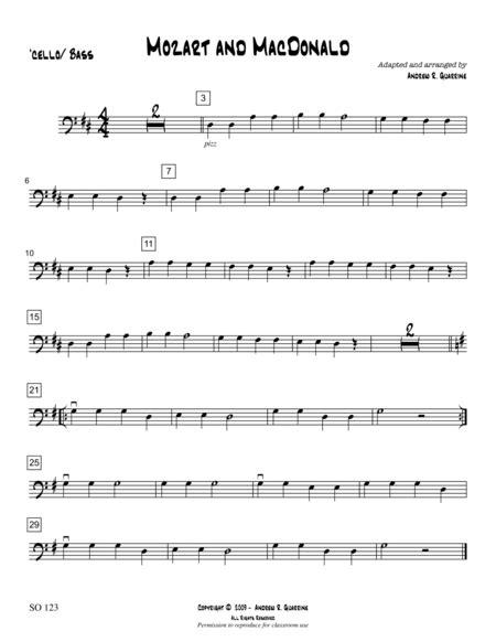 Mozart And Mcdonald  music sheet