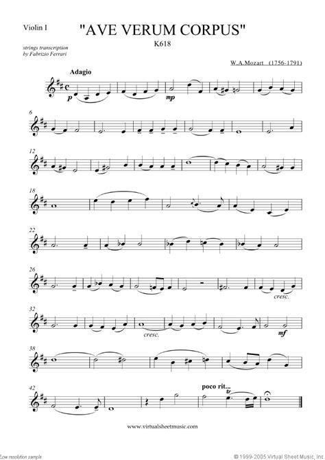 Mozart Ave Verum Corpus For 4 Flutes  music sheet
