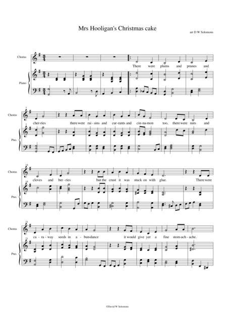 Mrs Hooligans Christmas Cake For Alto Clarinet And Piano  music sheet