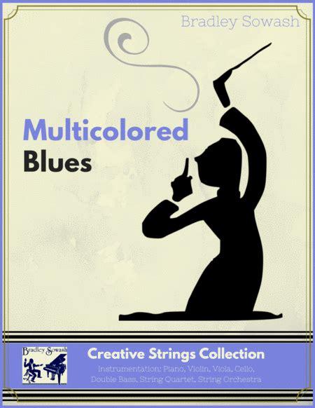Multicolored Blues Creative Strings  music sheet