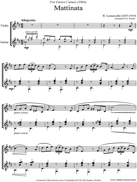 Music For A While For Violin And Guitar  music sheet