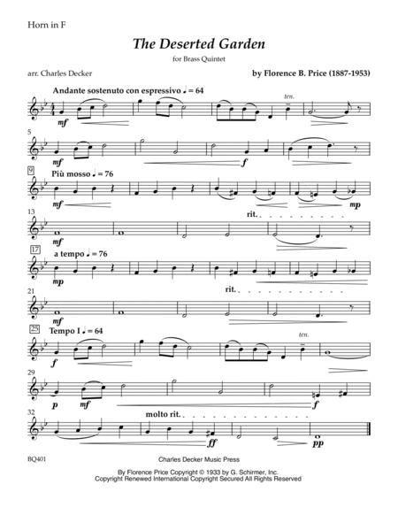 Music From A Deserted Garden Trio For Soprano Sax Alto Sax And Piano  music sheet