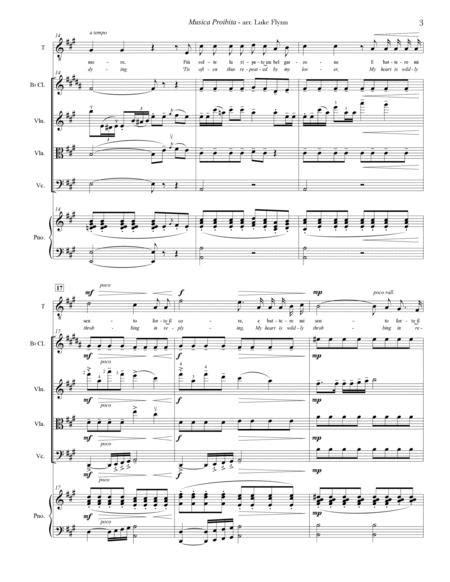 Musica Proibita For Tenor Voice And Chamber Ensemble  music sheet