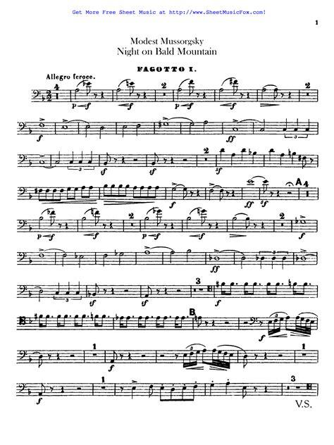 Mussorgsky Night On Bald Mountain For Soprano Sax Piano  music sheet