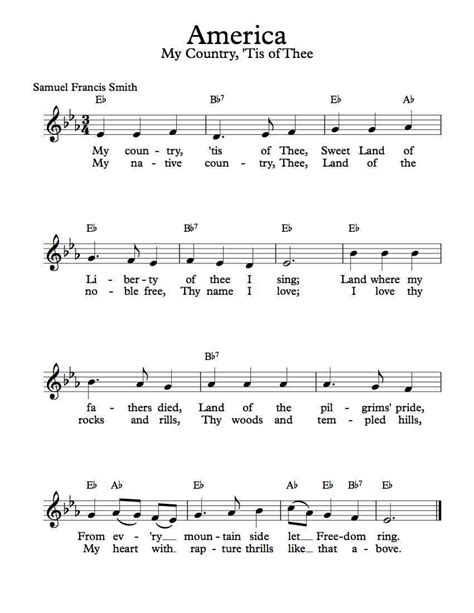 My Country Tis Of Thee America For String Quartet  music sheet