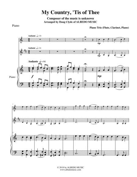 My Country Tis Of Thee Duet Flute And Piano Score And Parts  music sheet