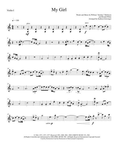 My Girl For String Quartet And Piano  music sheet