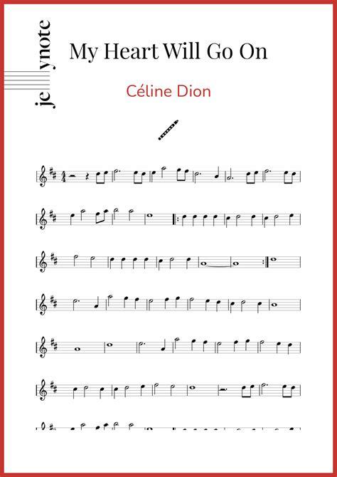 My Heart Will Go On Easy Key Of C Flute  music sheet