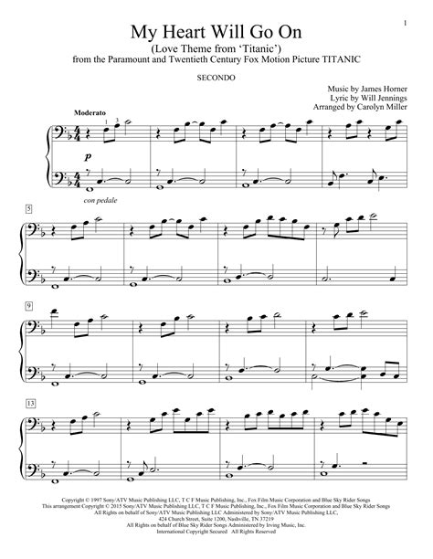 My Heart Will Go On Love Theme From Titanic Duet For Two Violas  music sheet