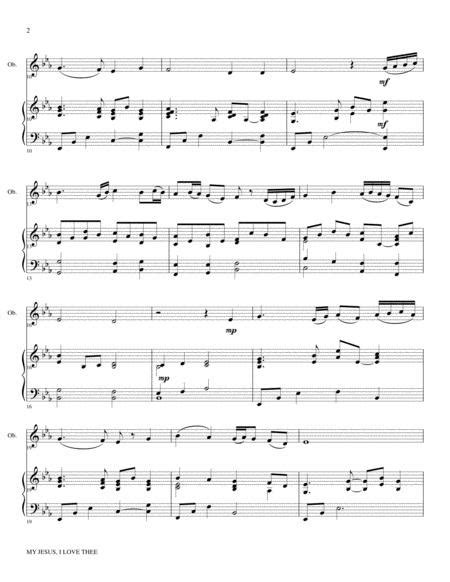 My Jesus I Love Thee Oboe Piano And Ob Part  music sheet