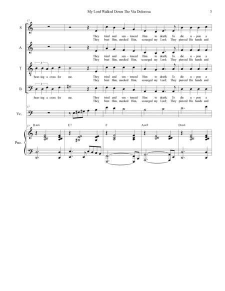 My Lord Walked Down The Via Dolorosa  music sheet