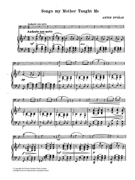 My Mother Always Taught Me  music sheet