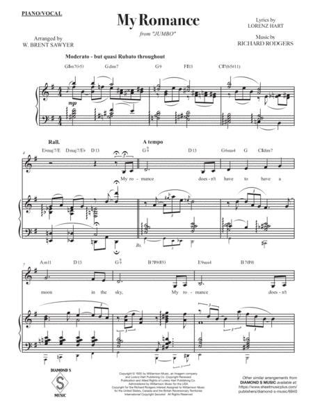 My Romance Vocal Solo Key Of Eb With Piano Bass Drums  music sheet