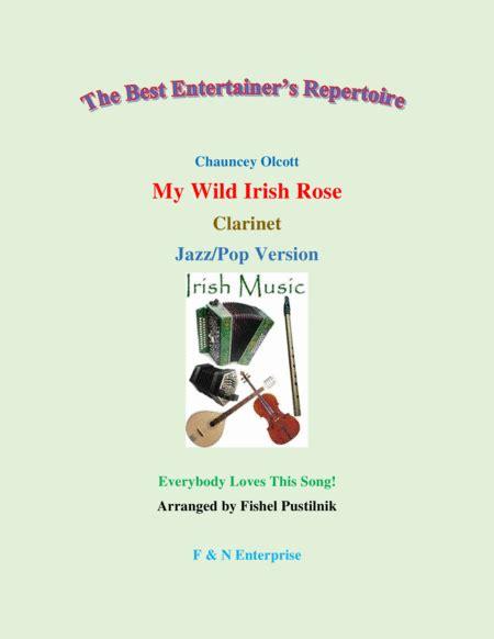 my wild irish rose for oboe with background track jazz pop version music sheet