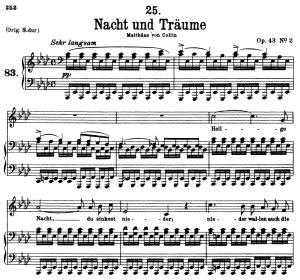 Nacht Und Trume D 827 A Flat Major  music sheet