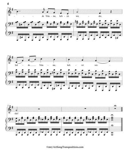 Nacht Und Trume D 827 In 3 Low Keys G G Flat F Major  music sheet
