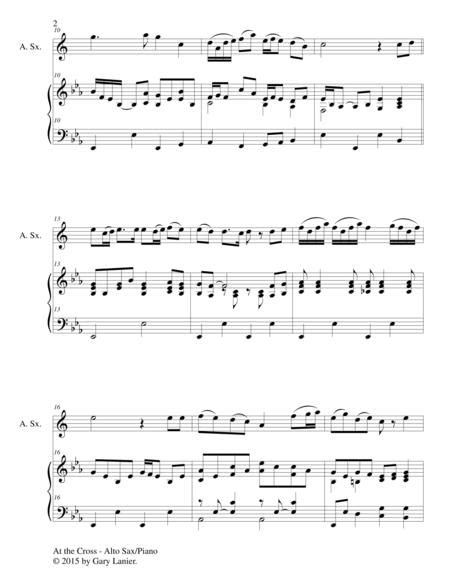 Near The Cross Duet Alto Sax And Piano Score And Parts  music sheet