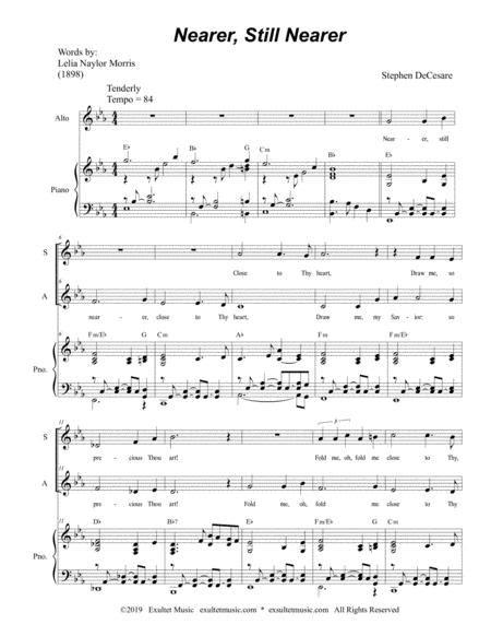 Nearer Still Nearer Duet For Soprano And Tenor Solo  music sheet