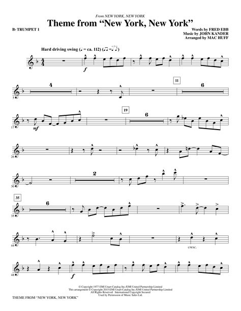 New York New York Theme Arranged For Clarinet And Piano  music sheet