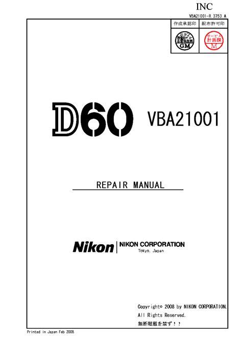 free download ebooks Nikond60 Schenmatic Manual.pdf