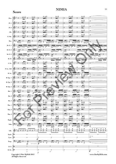 Nimia  music sheet