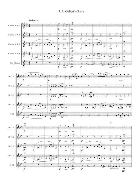 Nine Childrens Pieces For Clarinet Quintet  music sheet