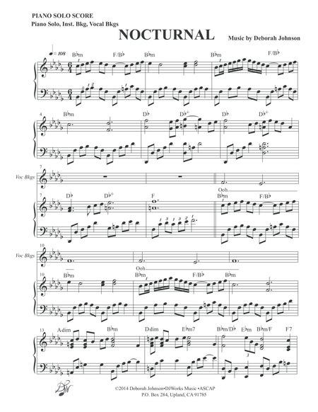 Nocturnal Inst Solo Score music sheet