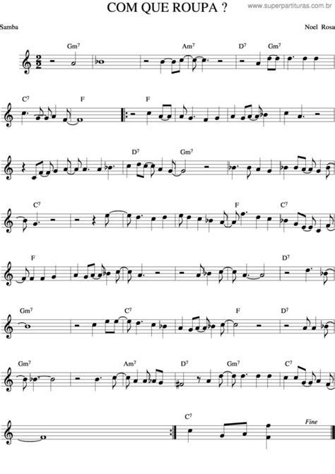 Noel Rosa Com Que Roupa Orchestra  music sheet