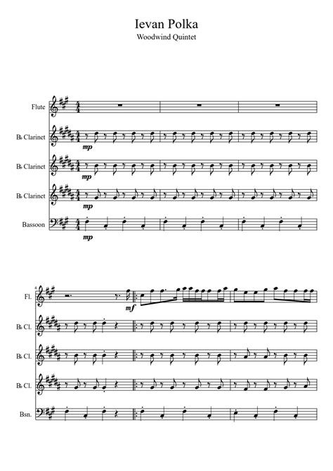 Now We Are Free For Woodwind Quintet  music sheet