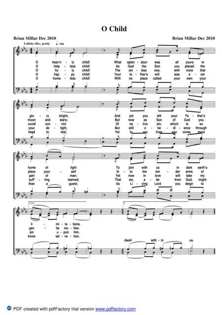 O Child  music sheet