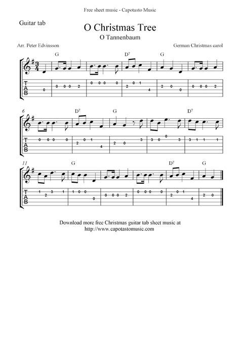 O Christmas Tree For Easy Guitar With Tab  music sheet
