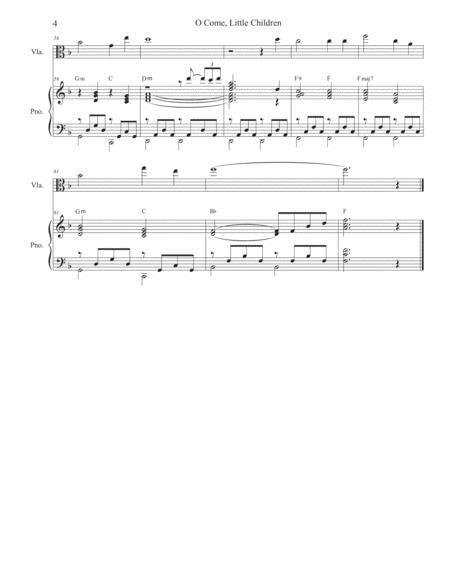o come little children viola solo and piano music sheet