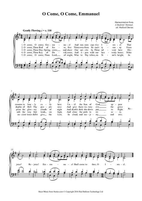 o come o come emmanuel mens choral arrangement music sheet
