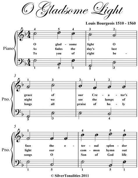 O Gladsome Light  music sheet