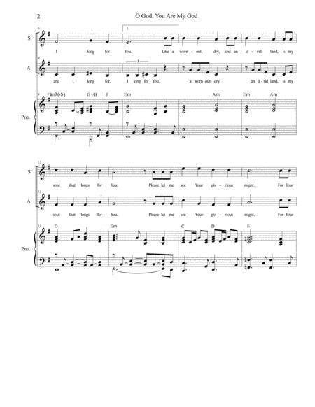 O God You Are My God For 2 Part Choir Sa  music sheet