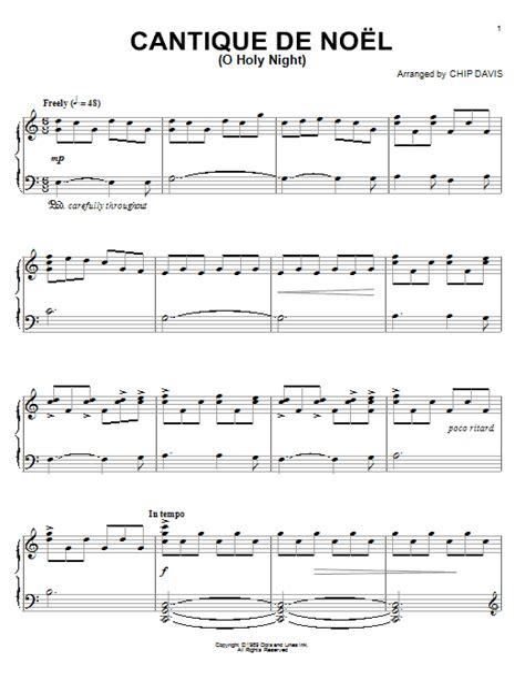 O Holy Night Cantique De Noel  music sheet