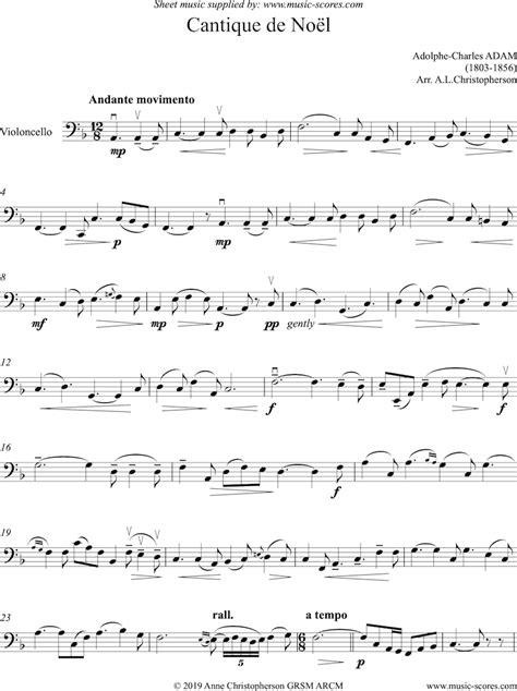 O Holy Night Cantique De Noel Solo Cello  music sheet