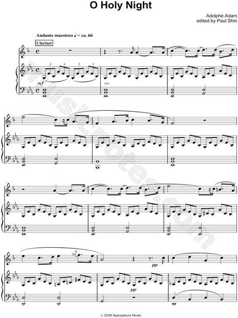 O Holy Night Piano Accompaniment For Soprano Solo Bb Clarinet  music sheet