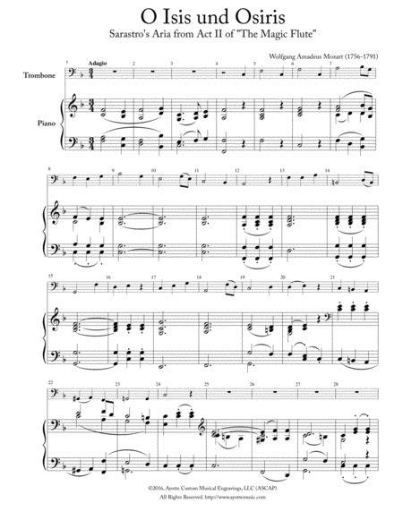 O Isis Und Osiris Trombone Or Euphonium Solo With Piano  music sheet