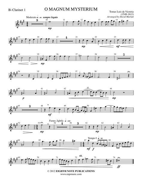 O Magnum Mysterium De Victoria Part For Bass  music sheet