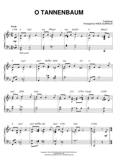 O Tannenbaum  music sheet